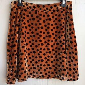 NEW Madewell Velvet Circle Mini Skirt in Leopard